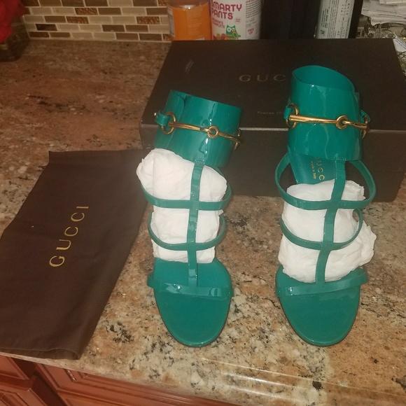 1722d995f70f Gucci Shoes - Gucci Ursula Patent Leather (green) size 37